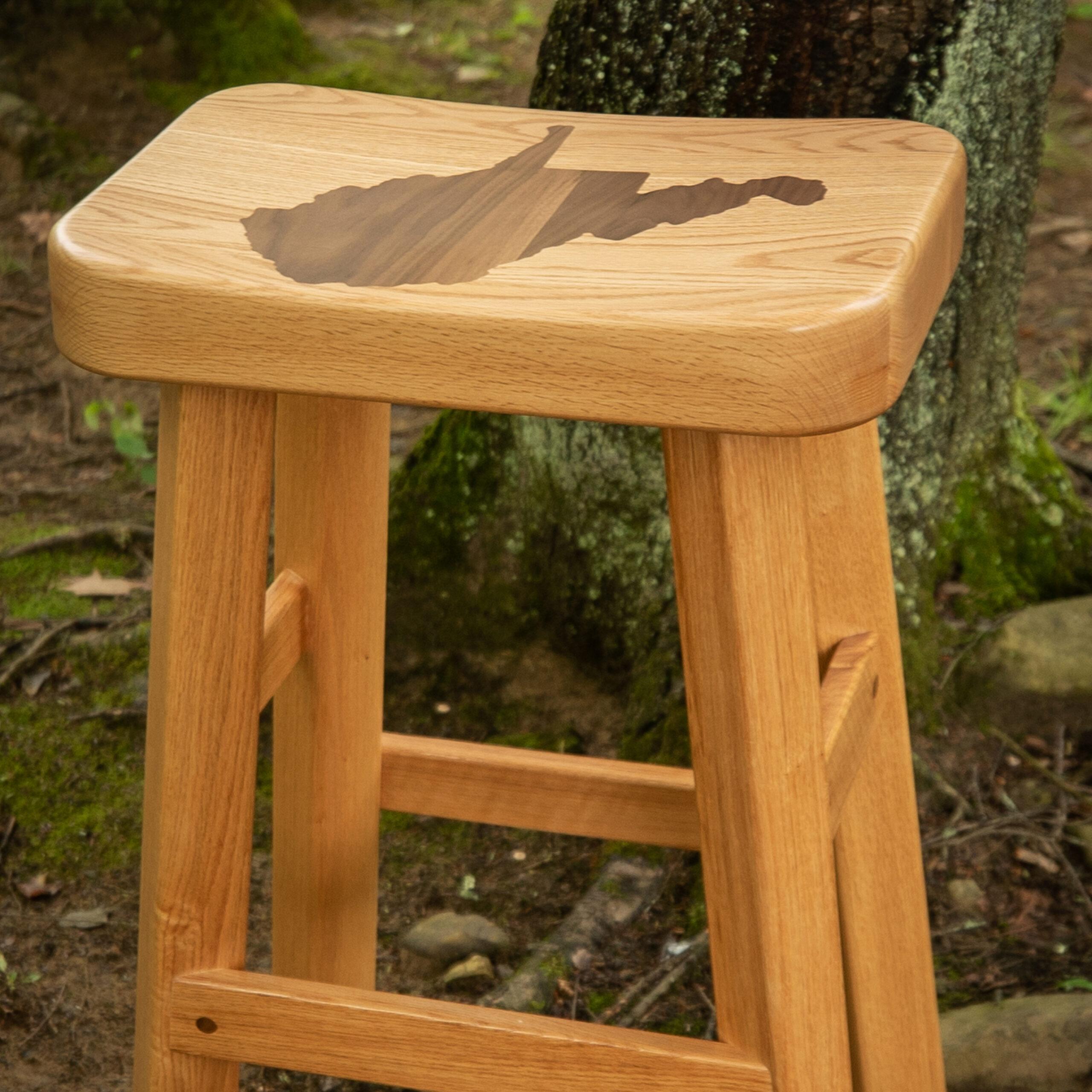 WV Wooden Stool
