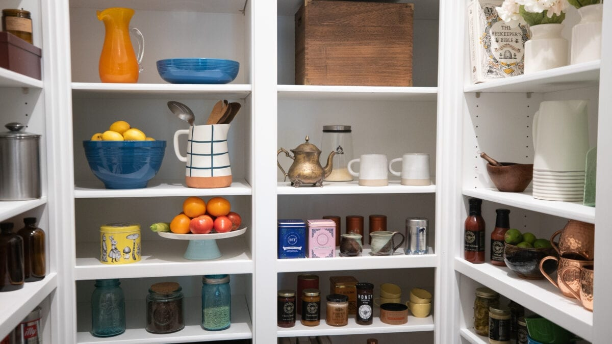 Photo: Custom-designed walk-in pantry with adjustable shelves