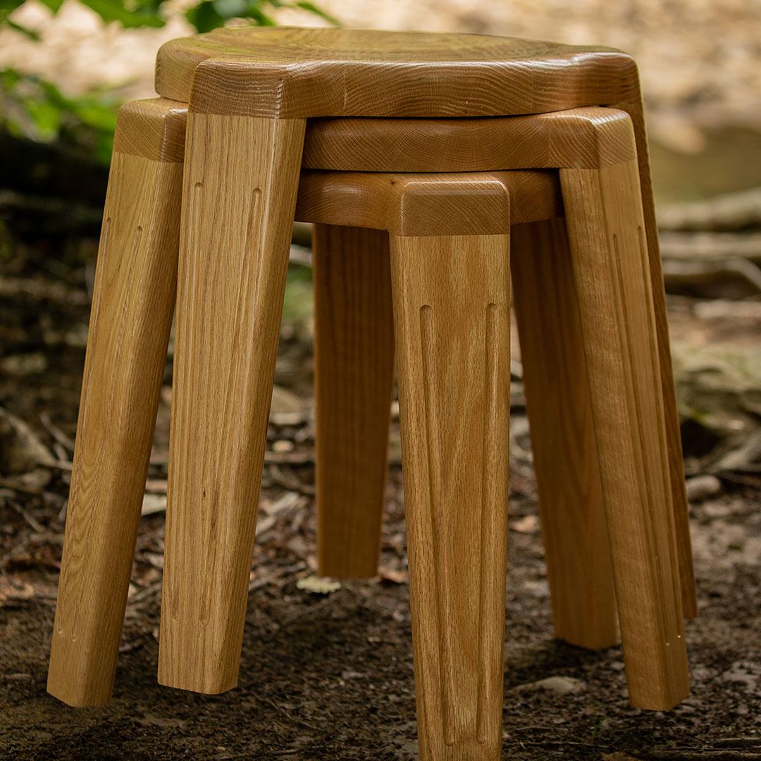 Photo: Three stackable stools